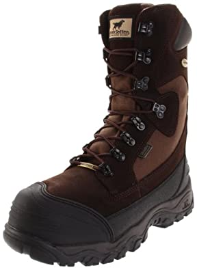 "Irish Setter Men's Snow Tracker Pac WP 1400 Gram 12"" Cold Weather Boot,Brown Frisco Leather,8 EE US"