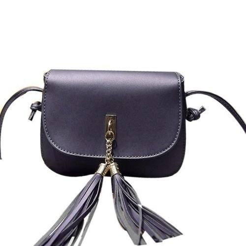 Mei&ge PU / Synthetic Leather Stylish Sling Bag / Purse For Women & Girls Color - Shimmery Purple (1225)