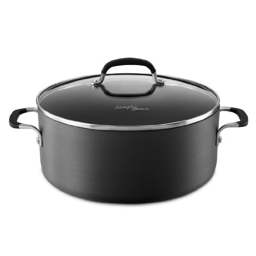 Simply Calphalon Nonstick 7-qt. Dutch Oven & Cover (Domed Pot Lid compare prices)