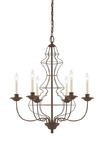 Quoizel LLA5006RA Laila 6-Light Chandelier, Rustic Antique Bronze