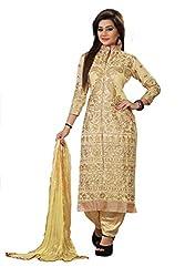 Shree Hans Creation Gold Embroidered Sherwani Dress Material