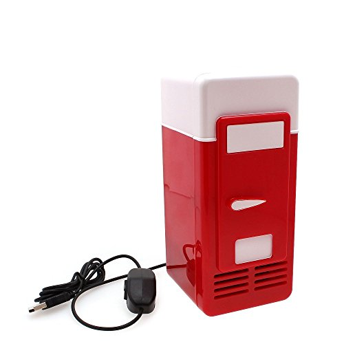 Refrigerator Freezer Cola Drink Cooler&warmer for Car USB Mini Red (Drink Cooler Portable compare prices)