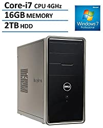 2016 New Edition Dell Inspiron 3000 High Performance Flagship Desktop, Windows 7/10 professional, Intel Quad Core i7-4790 8M Cache up to 4GHz, 16GB DDR3, 2TB HDD, DVD Drive, HDMI, VGA, Bluetooth