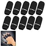 10PCS Black Sports Elastic Finger Sleeve Protector