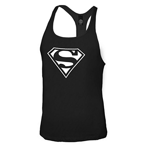 Amino Z Team Womens Weight Lifting Bodybuilding Gym: Superman S Man Of Steel Gym Workout Tank Top Racerback