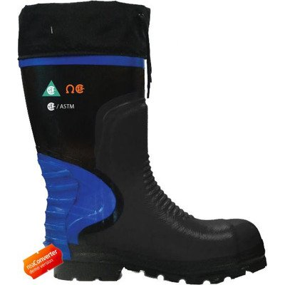 Viking Footwear Men'S Ultimate Construction Boot,Black/Blue,12 M Us