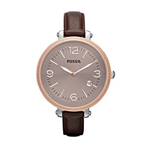 Fossil Heather Three Hand Leather Watch - Brown Es3132: Fossil