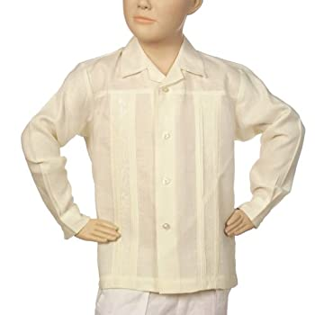 Irish linen long sleeve ivory shirt for boys. Final sale