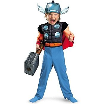 Thor Toddler Muscle Costume - Toddler Medium