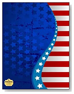 Stars And Stripes Notebook - An attractive red, white and blue stars and stripes design creates a stunning patriotic cover for this wide ruled notebook.