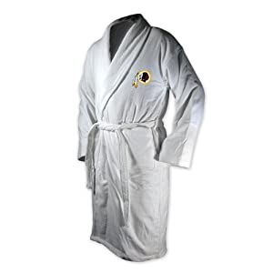 Buy McArthur Sports Washington Redskins Team Logo Embroidered Bath Robe One Size Fits Most by McArthur