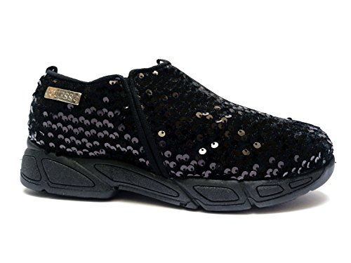 Guess scarpe casual da donna slip-on in tessuto Nero con paillettes, n. 36