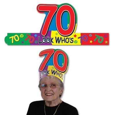 "Look Who's ""70"" Headband Party Accessory - 1"
