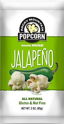 Rocky Mountain Popcorn, Jalapeno, 3 Ounce (Pack of 12)