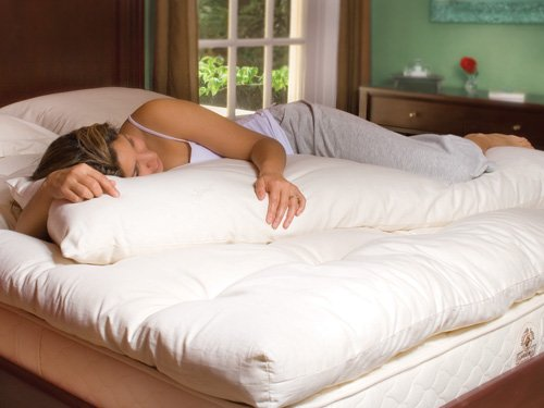 "Lifekind 100% Certified Organic Body Pillowcase 20"" X 60"" Ivory front-41473"