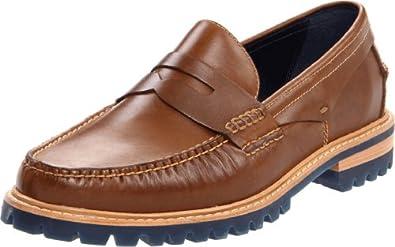 (大牌)Cole Haan Men's Lug Moc Loafer 男士真皮皮鞋 红 $75.7