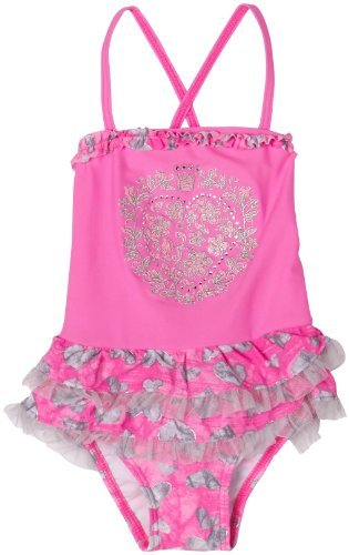 Hula Star Pink Layered Skirt Heart Swimsuit Toddler Little Girl 2T-6X