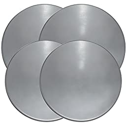 Range Kleen 550-4 Stainless Steel Round Burner Kovers, Set of 2