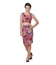 Zastraa Women's Body Con Dress (ZSTRDRESS0027_Maroon_X-Small)