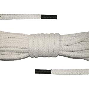 Baumwollseil - 6m - 6mm, Beige / Natur, Sicherung Seilenden: Schwarz