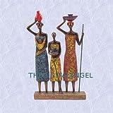 African women statue water carriers Ghana sculpture New (The Digital Angel Decor)