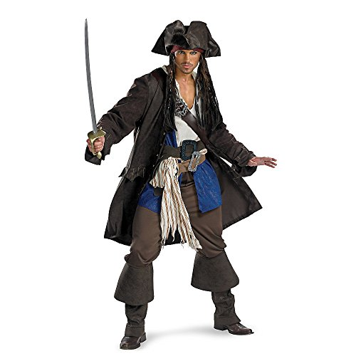 Men's Prestige Premium Captain Jack Sparrow Costume