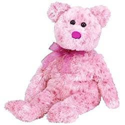 TY Beanie Baby - SMITTEN the Pink Bear ( Pink Nose Version )