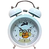HAND--8815-Extrem-leise-Kinder-Cartoon-Twin-Bell-Metall-Wecker-Angry-Birds-Style-Matilda-Wei