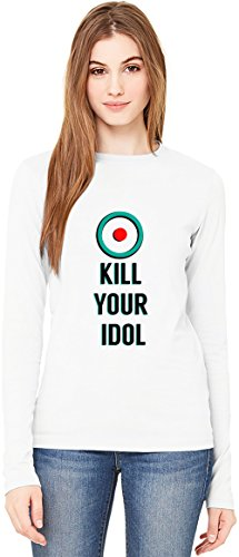 Kill Your Idol T-Shirt da Donna a Maniche Lunghe Long-Sleeve T-shirt For Women| 100% Premium Cotton| DTG Printing| XX-Large