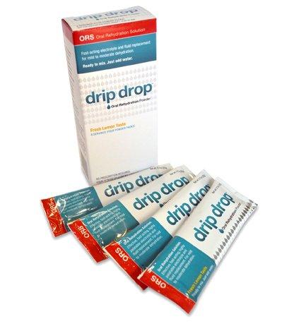 Drip Drop Hydration 4 Powder Packs, Fresh Lemon Taste.