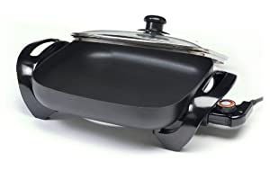 MaxiMatic Elite Cuisine 12-Inch Non-Stick Electric Skillet with Glass Lid