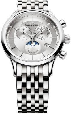 Maurice Lacroix Men's LC1148-SS002131 Les Classiqu Silver Chronograph Dial Watch