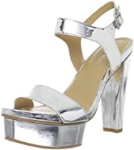 Big Sale Nine West Women's Fastlife Ankle-Strap Sandal,Silver,8 M US