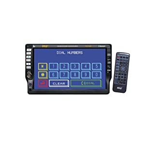 PYLE PLD70BT 7'' Single-DIN In-Dash TFT Touchscreen DVD Receiver with Bluetooth(R)