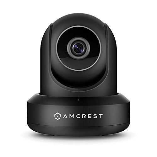 Amcrest-UltraHD-2K-3MP2304TVL-WiFi-Video-Security-IP-Camera-with-PanTilt-Dual-Band-5ghz24ghz-Two-Way-Audio-3-Megapixel--20FPS-Wide-90-Viewing-Angle-and-Night-Vision-IP3M-941B-Black