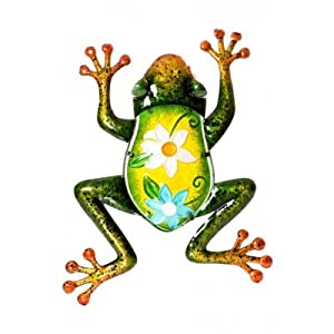 Green Frog Glass Wall Art