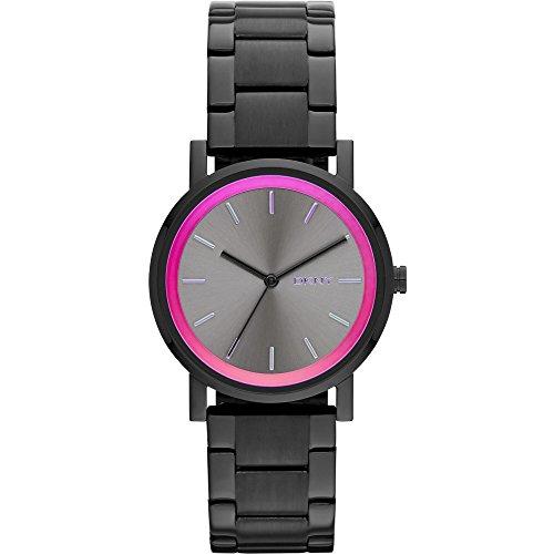 DKNY NY2265 - Reloj de cuarzo para mujer, correa de acero inoxidable color negro