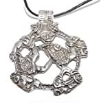 Loki Norse God of the Underworld Pewter Pendant