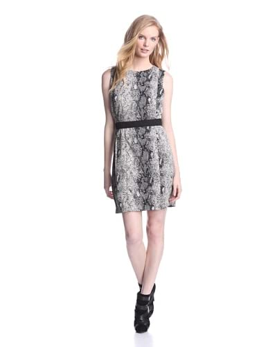 W118 by Walter Baker Women's Lillie Dress  [Snakeskin Black]