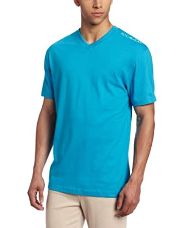 Rocawear Men's Short Sleeve Basic V-Neck T-Shirt, Vivid Blue, XX-Large