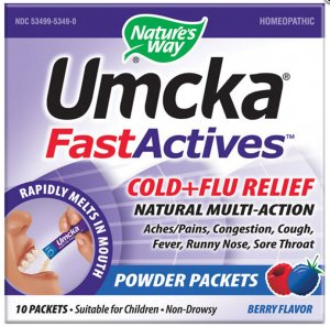 Natures Way Umcka Fastactives Cold+Flu Berry, Berry 10 Pkts