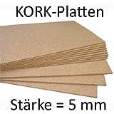 Pinnwand Korkplatte 50 x 100 cm - 5 mm stark - hochwertige Korkplatte - hochelastisch und antistatisch
