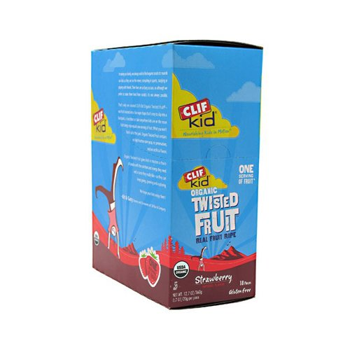 Clif Bar Kid Twisted Fruit Strawberry 18X .7 Oz front-849639