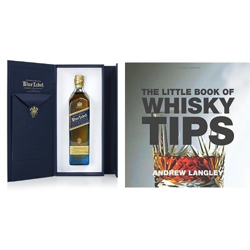 discount duty free Bundle: Johnnie Walker Blue Label Blended Scotch Whisky 20cl and The Little Book of Whisky Tips