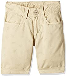 UFO Boys' Shorts (AW16-NDF-BKT-296_Stone_2 - 3 years)