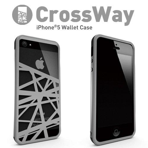 Felix iPhone5/iPhone5s専用ケース Felix CrossWay マネークリップ ブラック/グレー FB103-BKGY
