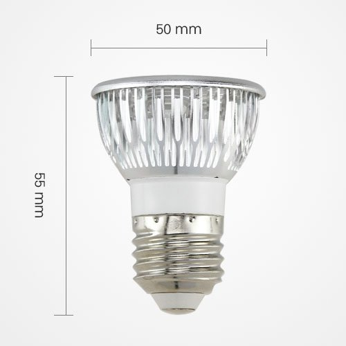 Led E27 3W 3X1W Energy Saving Spotlight Lamp Bulb Ac 110V Cool White Equivalent To 50W Traditional Bulb By Goodscity