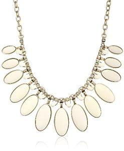 "Lucky Brand Bone Set Stone Collar Necklace, 19"""