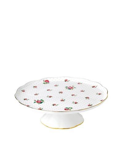 Royal Albert Pink Rose Large Cake Stand, White/Pink