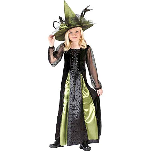 Kid's Goth Maiden Witch Costume (Size:Medium 8-10)